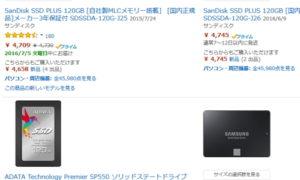 SSDの値段が下がってきた今だから換装してみる