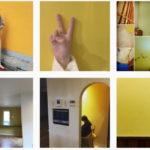 明るい #黄色の壁