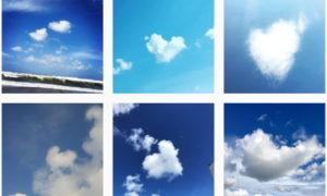 見つけた #ハートの雲