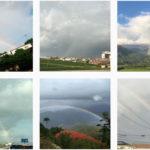 ふと外を見ると #虹 が