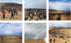 これだけの人が出ています #鳥取砂丘 #ポケモンGOイベント