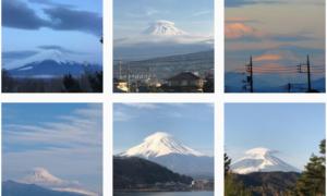 山が笠をかぶっているように見える #笠雲