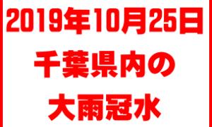 2019年10月25日 千葉県の大雨では至る所で水がでていました