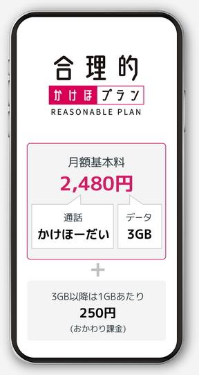 合理的かけほプラン2480円